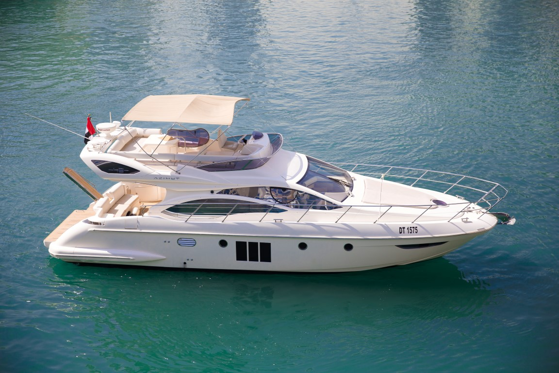 aerial view - 48ft azimut - yachts for rent in dubai