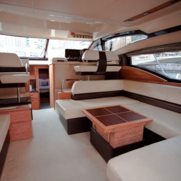 sitting area - 48ft azimut - yachts for rent in dubai
