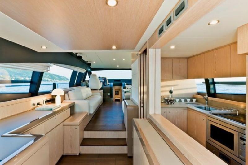 62 ft White Luxury Ferretti Yachts Rental Dubai