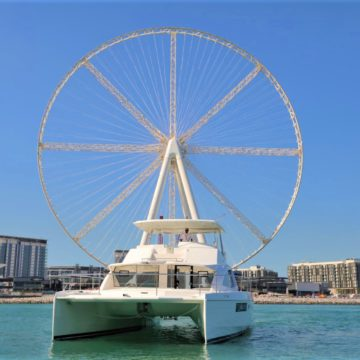 catamaran with ain wheel