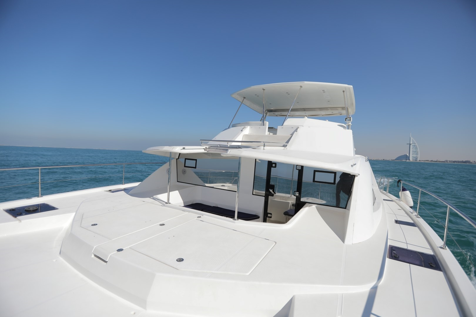 front deck - catamaran - yachts rental dubai