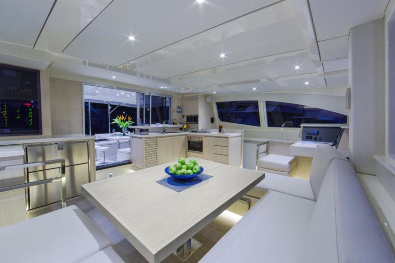saloon - catamaran - yachts rental dubai