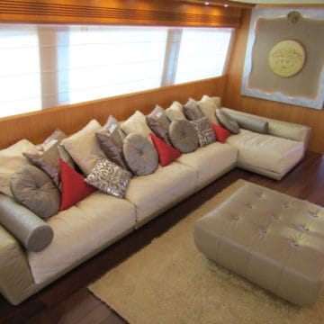 saloon area - 96 Ft - White versace- Yacht Rental Dubai