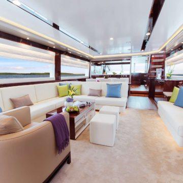 saloon - Aqua Motor Yacht - yacht for rent in dubai