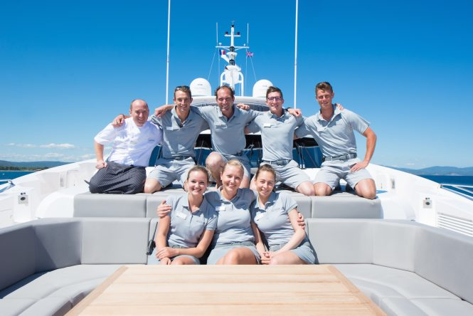 Qualified captain and crew on your rented yacht