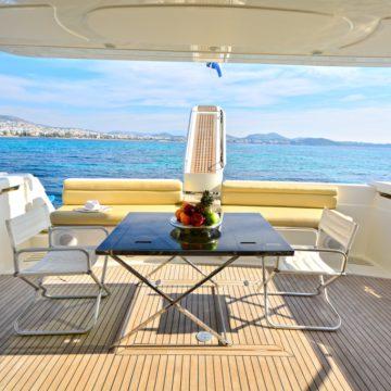 flybridge - lady a yacht - yachts rental dubai