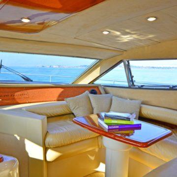 saloon - lady a yacht - yachts rental dubai