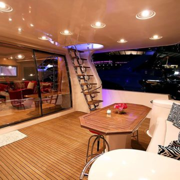cabin - 62 ft White Luxury Ferretti Yachts Rental Dubai