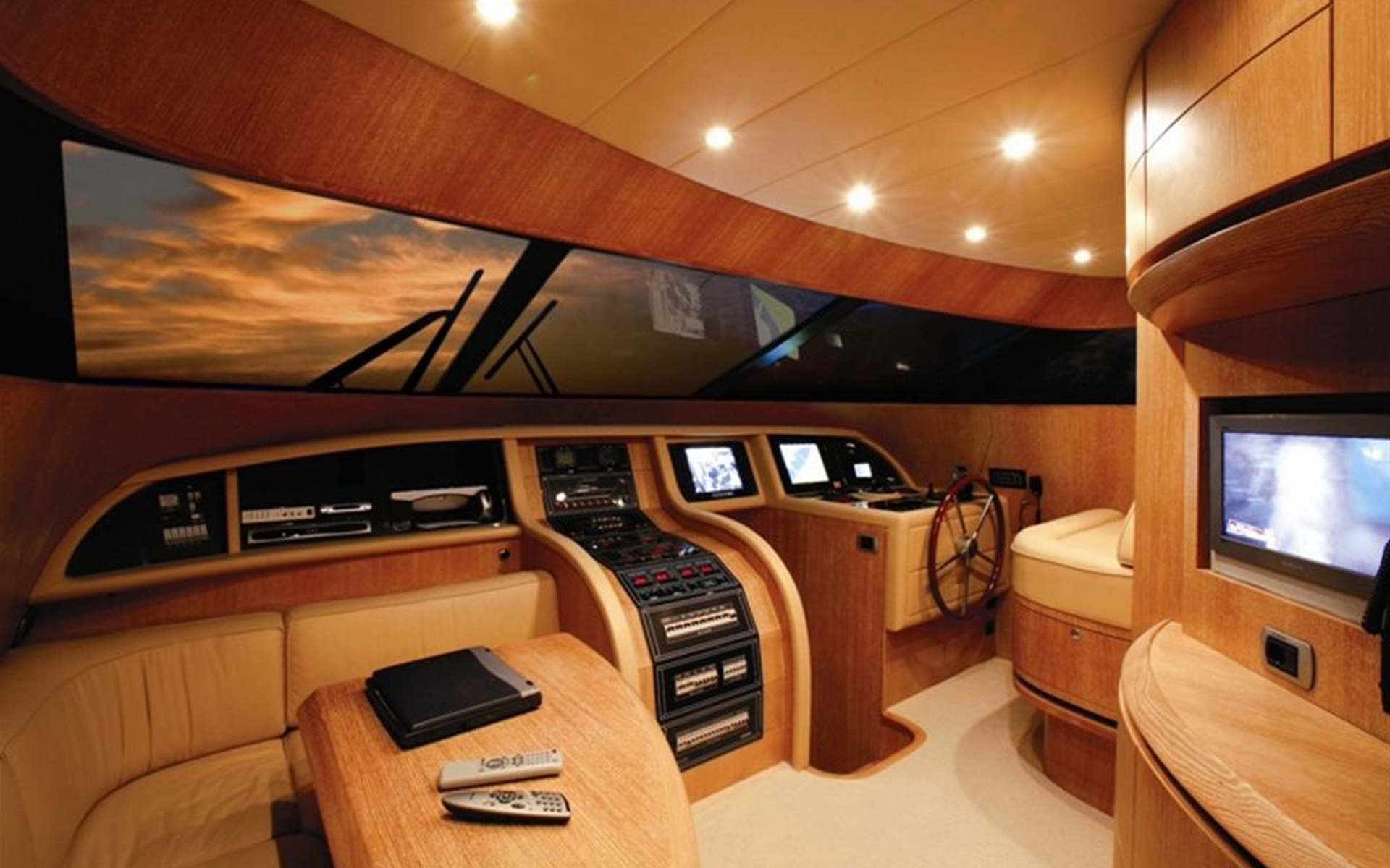 captains dock of a yacht