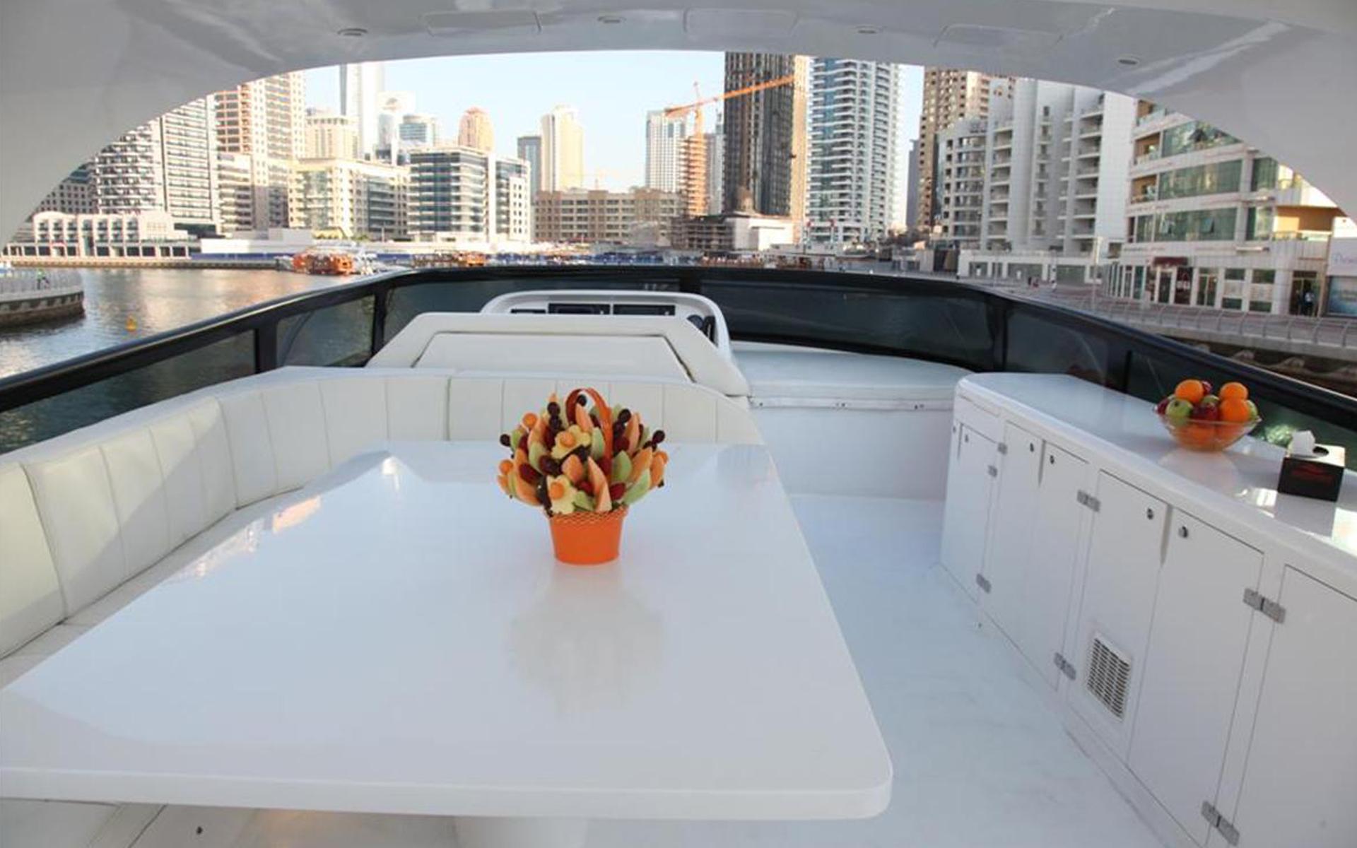 fly bridge of a yacht