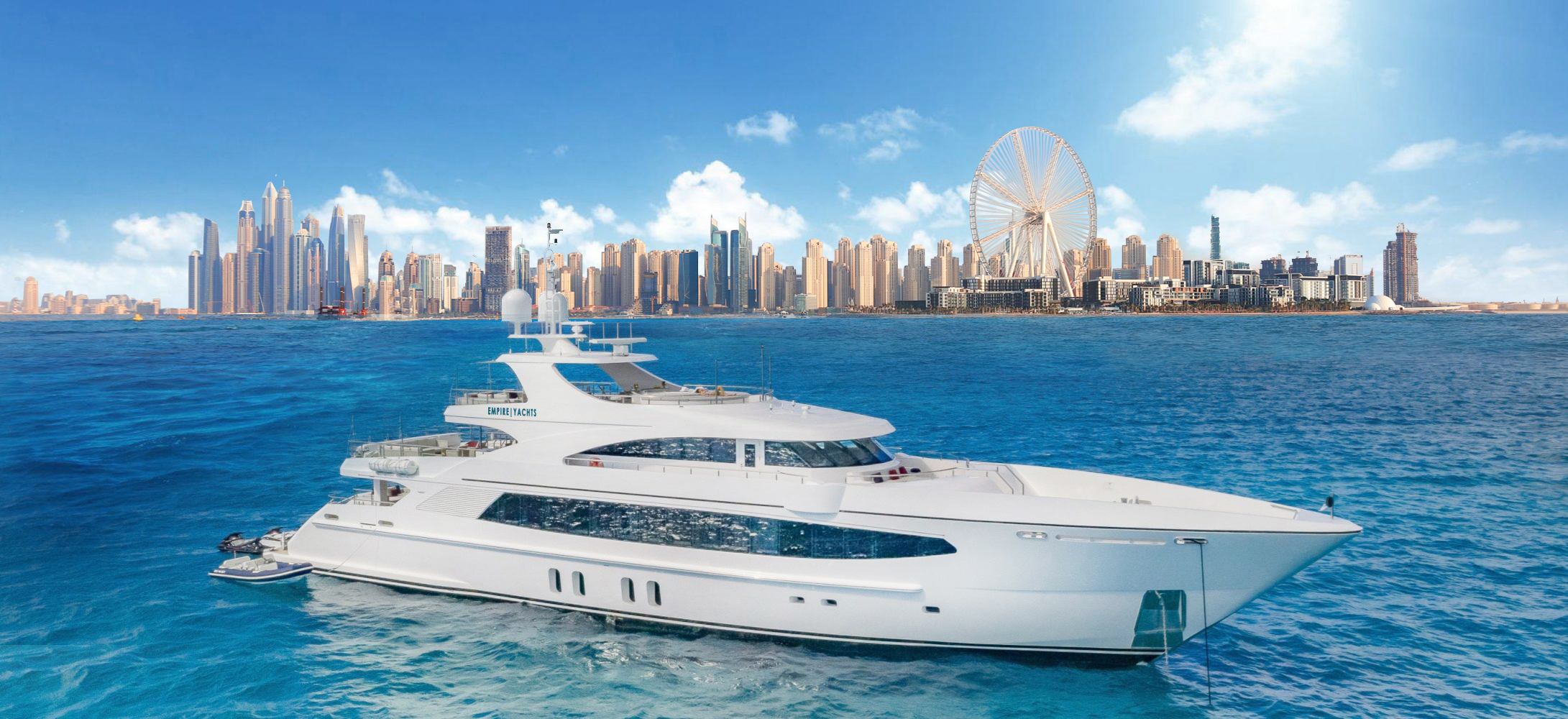 Empire Yachts - Hero Image - Dubai Skyline