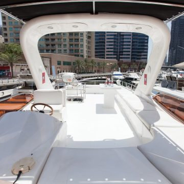 fly bridge - 70ft - dyretti yacht - yacht for rent in dubai