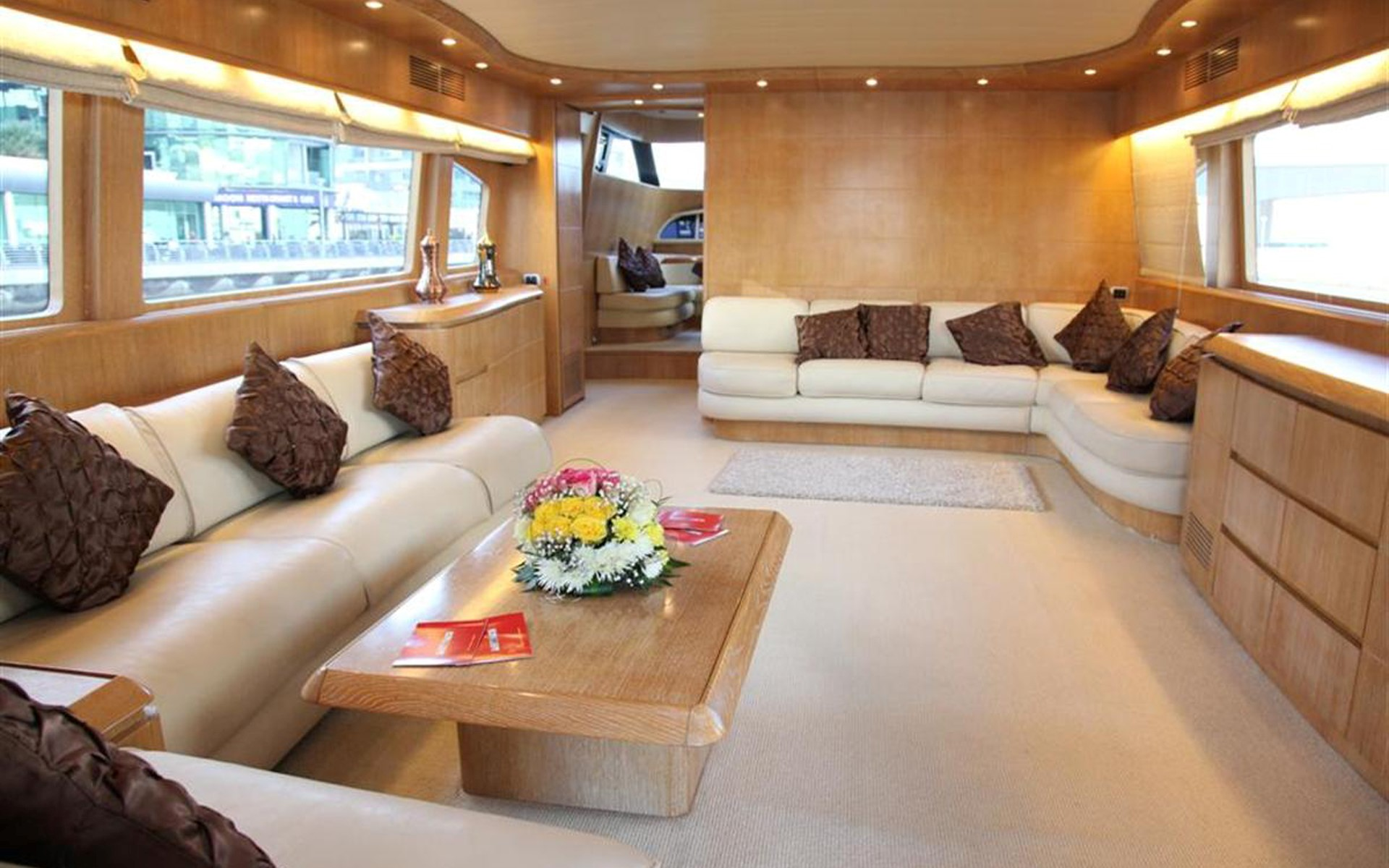 saloon area - yacht - yachts for rent in dubai