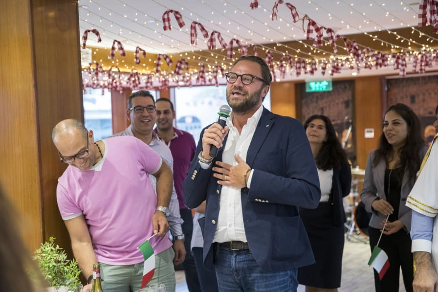 man giving a speech on a private event